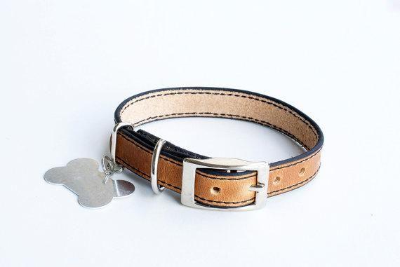 Premium Dog Collar, Leather Dog Collar, Personalized Leather Dog Collar, Natural Leather Dog Collar