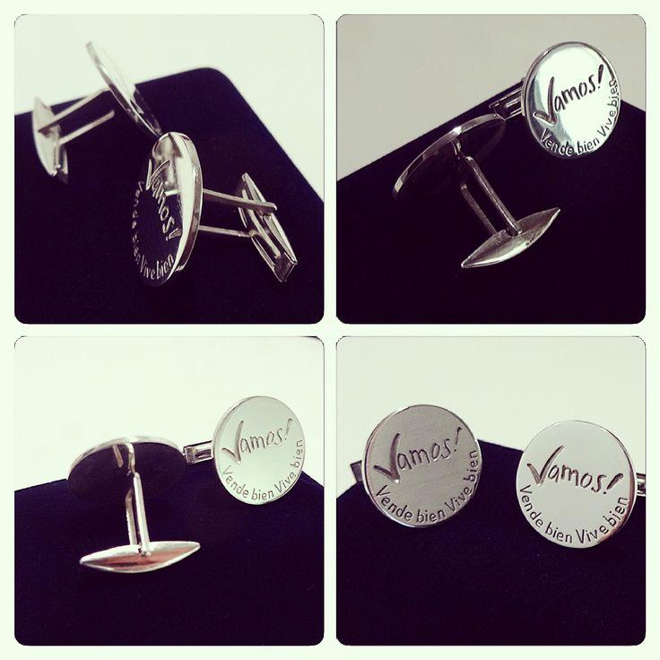 Colleras de Plata, diseño personalizado para campaña de publicidad Nestlé / Silver Cufflinks, Custom design for advertising campaign Nestlé / #joyeria #hechura #hechoamano #colleras #plata #handmade #jewelry #silver #cufflinks