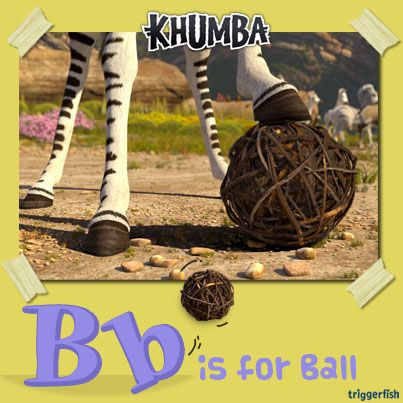 The Zebras like playing soccer (also known as football) so much that they've made a ball out of twigs and grass.  Psssst. You can down load this ebook by visiting : www.khumbamovie.com OR download directly here:  google play link:    http://bit.ly/A-Zgoogleplay     ibooks:                  http://bit.ly/A-Zibooks