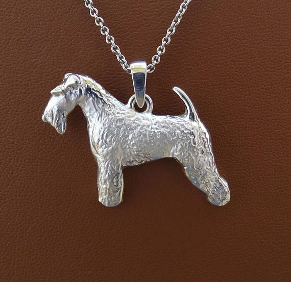 Large Sterling Silver Wire Fox Terrier Standing Study Pendant