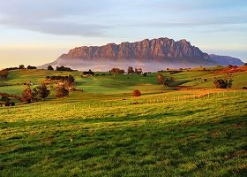 Farming country with an impressive view... Mt Roland, Sheffield, Tasmania.