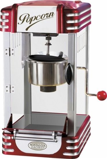 Nostalgia Electrics - Retro Kettle Popcorn Maker - Red - Angle Zoom