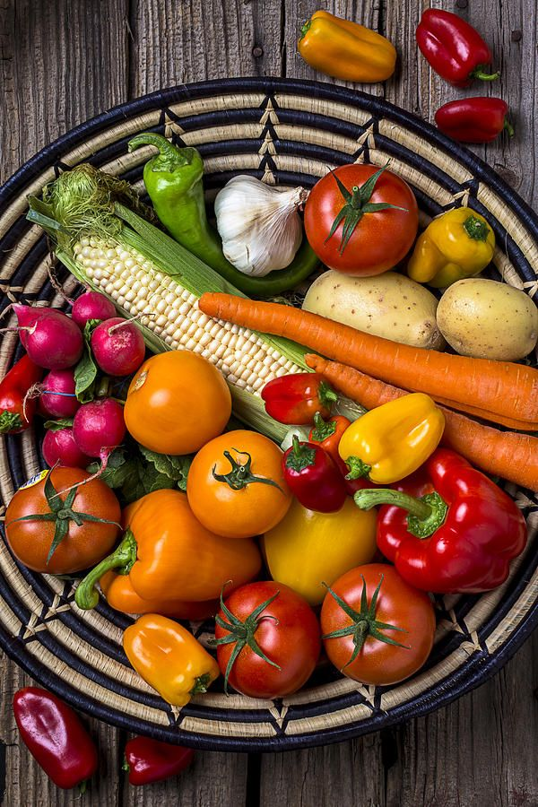 **Vegetable Basket    Photograph  - Vegetable Basket    Fine Art Print