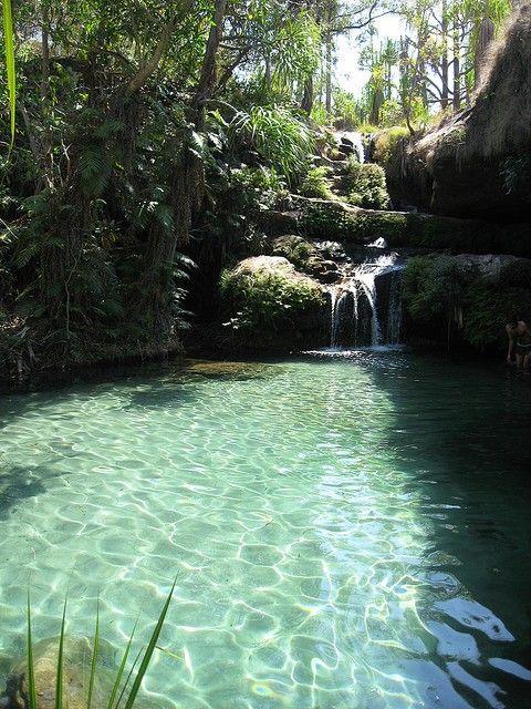 Turquoise Waterfalls, Isalo National Park, Madagascar