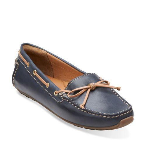 Clarks® Dunbar leather moccasins.