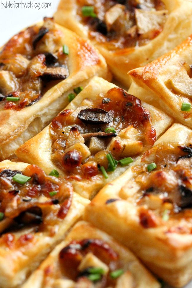 Caramelized Onion, Mushroom, Apple, and Gruyere Bites are the PERFECT appetizer! More More