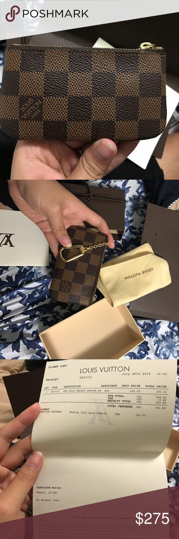 Brand New Louis Vuitton Key Pouch NWT Louis Vuitton Key chain holder, never used Louis Vuitton Accessories Key & Card Holders