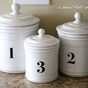 DIY numbered pots