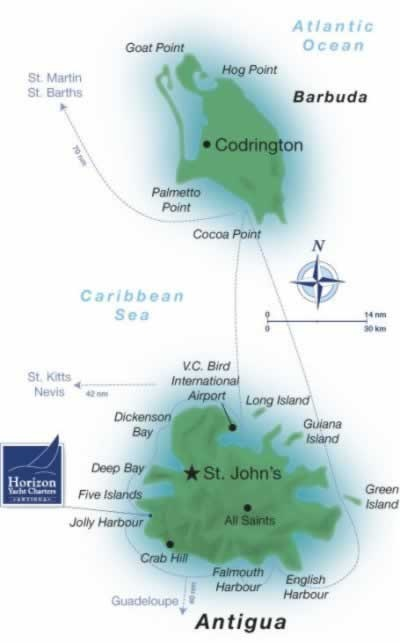 Map: Antigua and Barbuda Islands |..my sister island nation http://www.homeinstbarts.com