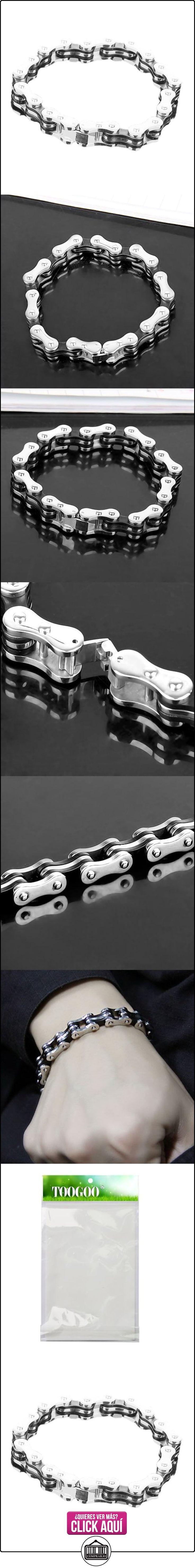 TOOGOO (R) Estilo de la cadena de bicicleta de acero inoxidable pulsera para hombre w / caja de regalo  ✿ Joyas para mujer - Las mejores ofertas ✿ ▬► Ver oferta: https://comprar.io/goto/B00UFBPTDW