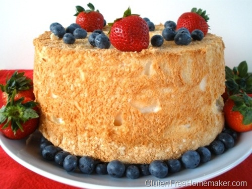 My favorite gluten-free Angel Food Cake recipe.  So glad I found glutenfreehomemaker.com! My kids have so missed angel food cake may have to try for a special occasion
