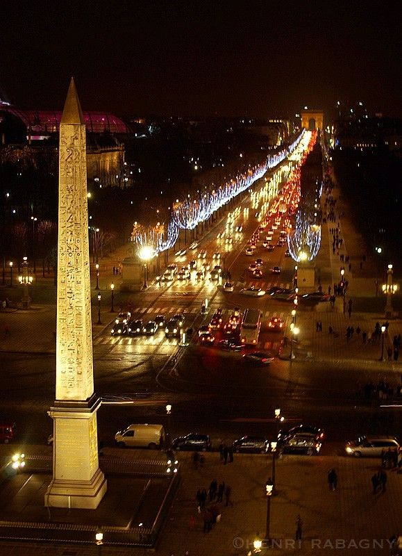 The Avenue des Champs-Élysées, Paris. The name is French for Elysian Fields, the place of the blessed dead in Greek mythology.