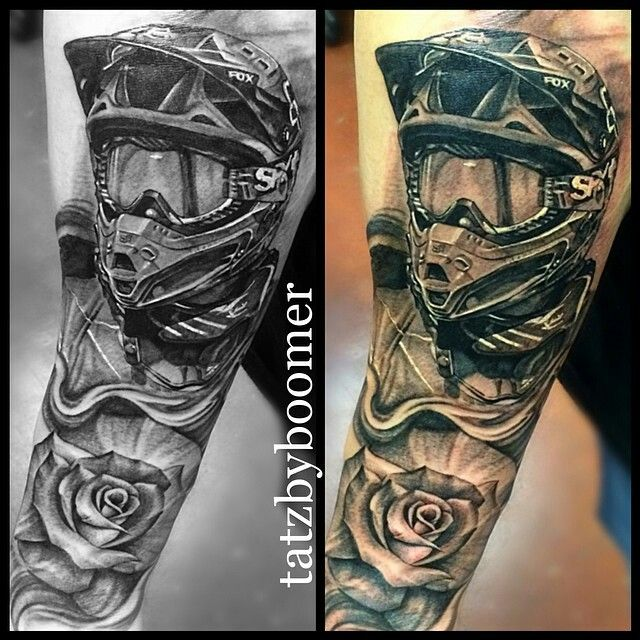 Motocross tattoo                                                       …
