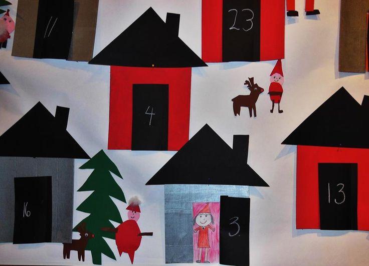 Kaupunkilaisten yhteinen joulukalenteri kirjaston näyttelytilassa joulukuun ajan! Toteuttajina Lokalahden koulun 1.-2. luokka sekä iltapäivätoiminta. (Alakoulun aarreaitta FB -sivustosta / Anna Artiola)