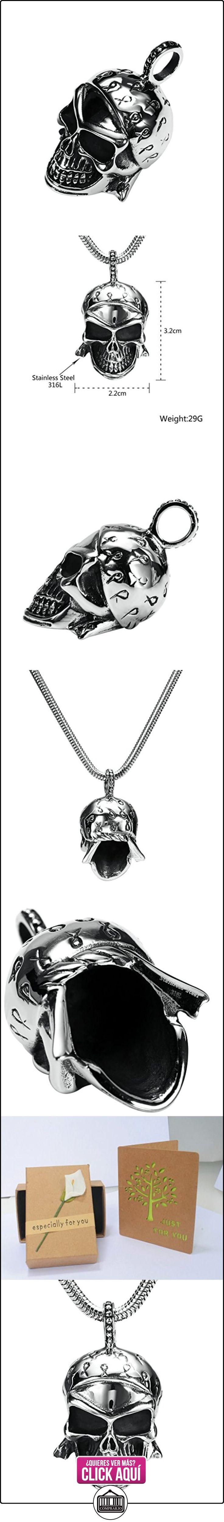 Daesar Joyería Collares de Hombre Acero Inoxidable Gótico Cráneo Calavera Plata Colgantes Vintage 2.2X3.2cm  ✿ Joyas para niños - Regalos ✿ ▬► Ver oferta: https://comprar.io/goto/B01MTOSNYO