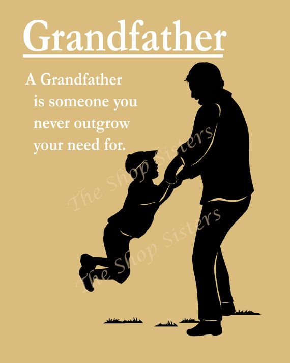 Grandfather Poem Grandpap Pap Zaydee Pappou By TheShopSisters New I Love My Grandpa Quotes