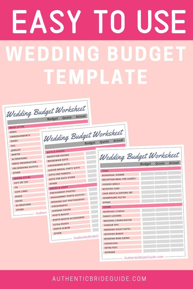 Wedding Budget Tracker Printable Budget Worksheets Etsy Wedding Budget Template Budget Wedding Wedding Budget Worksheet