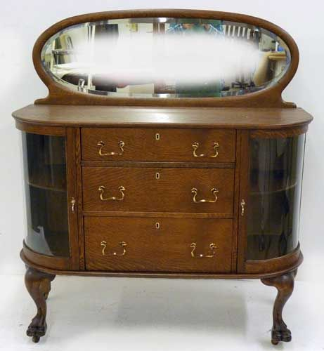 Small Oak Sideboard with Curios - Up the Creek Antiques