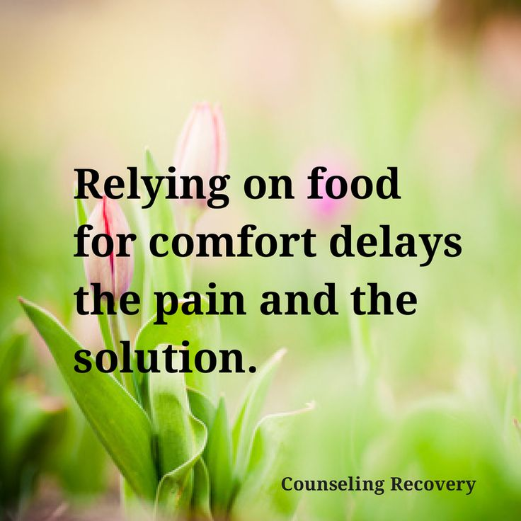 Overeating for comfort, or to cope with stress are related to food addiction. If you're struggling with food issues, there is help. Individual therapy and Overeaters Anonymous can start your recovery.