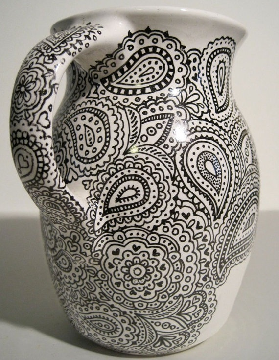 Ceramic Paisley Pitcher...