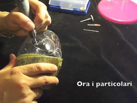 Incisione su vetro eseguita da Giovanna - Engraving Dreams