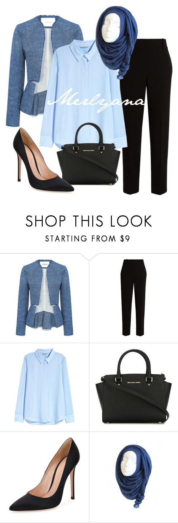 """""""003"""" by merlyana-dwi-hapsari on Polyvore featuring 10 Crosby Derek Lam, The Row, H&M, MICHAEL Michael Kors and Gianvito Rossi"""