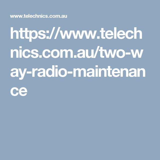 https://www.telechnics.com.au/two-way-radio-maintenance
