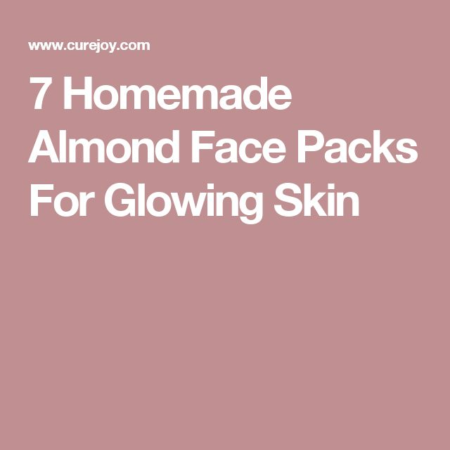 7 Homemade Almond Face Packs For Glowing Skin