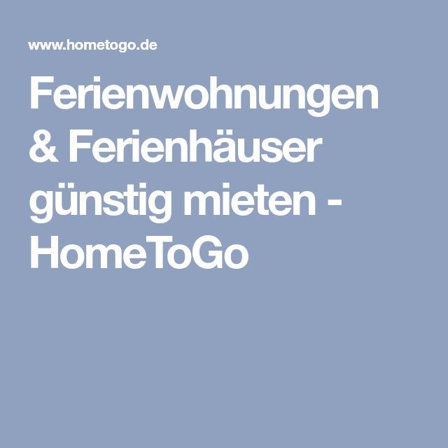 Ferienwohnungen & Ferienhäuser günstig mieten - HomeToGo