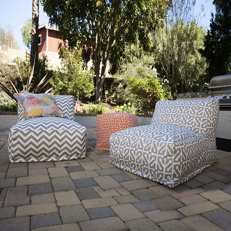Retro cool and super fun bean bag that's just like you remember as a kid - only these are better. The Majestic Home Goods Outdoor Bean Bag Chair Lounger will add style and functionality to your deck or outdoor patio. The beanbag inserts are eco-friendly by using up to 50% recycled polystyrene beads. They're supportive and comfy. Whether you are lounging out by the pool or having a barbecue with friends, they are the perfect accent to any outdoor patio furniture or game room. The removable…