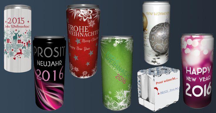 Weihnachts- und Neujahrsgrüsse einmal anders? Getränkedosen mit Prosecco, Apfelschorle, Enegydrink mit Eurer eigenen Etikette bedruckt! Für Euer Büro oder Privat. weitere Informationen unter: http://www.akhofprint.ch/index.php/prosecco-bianco.html