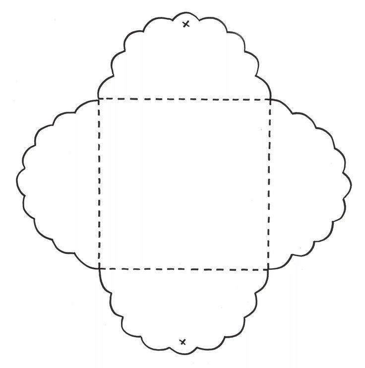 Шаблон открытки в форме конверта, поздравление