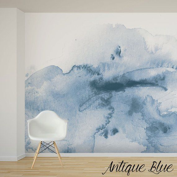 Soft Watercolor Wall Mural Custom Colour And Size Available Hand