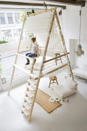 Tolle Wohn Inspiration - Ein Traum eines jeden Kindes? - Hochschaukel mitten im Zimmer *** Every kids dream - High Swing in the middel of a room  - great Inspiration