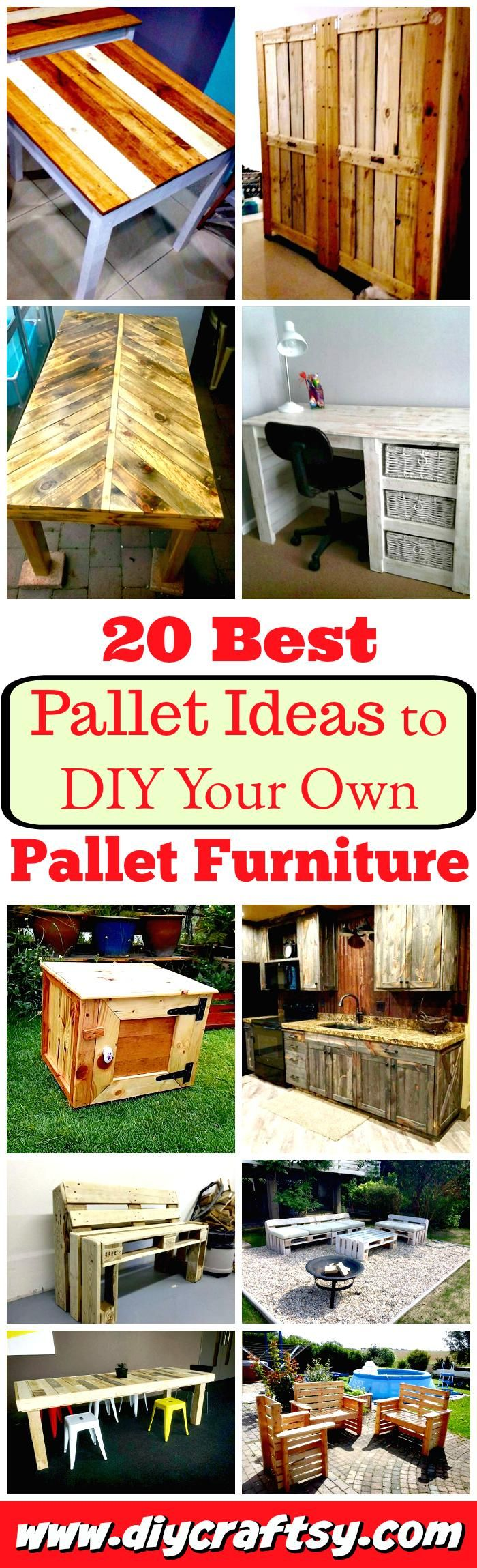 We have shared a few of latest pallet discoveries as 13 DIY pallet ideas, giving you the more creative look of genius pallet wood recycling!