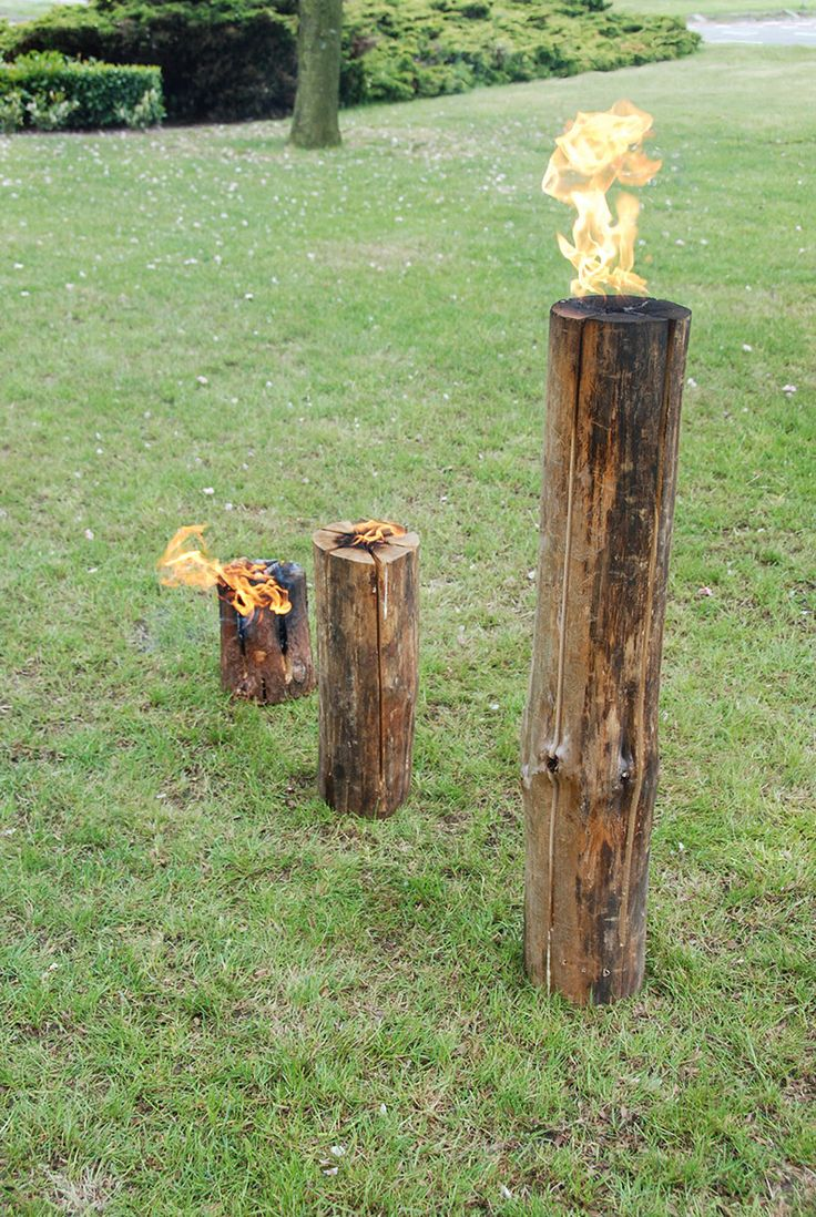 Esschert Design FF104-05-06 Swedish Torches. Wooden fire blocks.