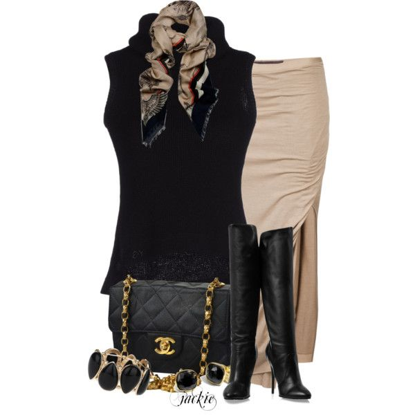 """""""Black and Tan"""" by jackie22 on Polyvore"""