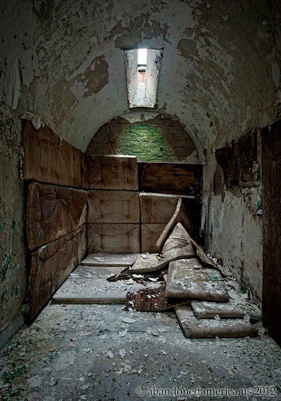 How creepy are those decaying mattresses to prevent prisoners from hurting themselves...?  Wow.  Holmesburg Prison, Philadelphia PA - Photography by Matthew Christopher Murrays Abandoned America