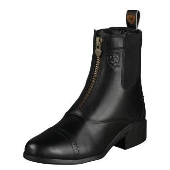 Ariat Paddock Boots - my first pair lasted through twelve years of riding. Comfortable enough to do quite a bit of walking in, too.