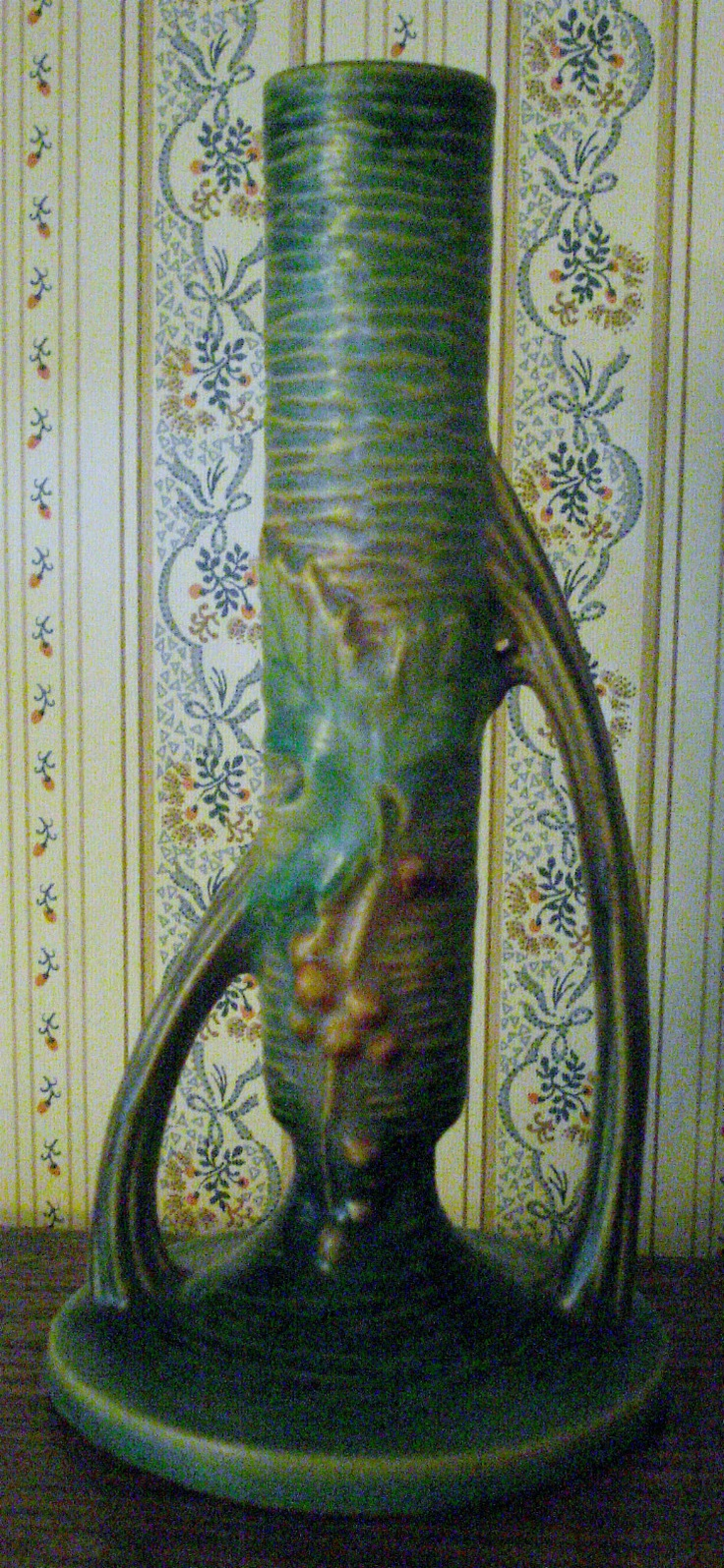 Vintage Roseville Pottery Bushberry Bud Vase
