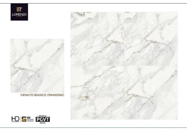 Venato Bianco - Millennium Tiles 600x600mm (24x24) Digital PGVT Vitrified Porcelain #MarbleEffect Floor #Tiles  - Digital Floor Tiles: Digital tiles will have a single coat of pigment nearly 1or 2 mm. It is not suitable for heavy traffic.As the name suggests, any design can be printed on this types of tiles or u can even customize the design of tile with ur photo or any picture.  - Vitrified tiles gives most exotic look of the flooring than other ceramic tiles. Vitrified tiles are made of…