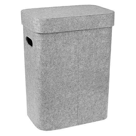 Buy John Lewis Felt Laundry Basket, Grey Online at johnlewis.com