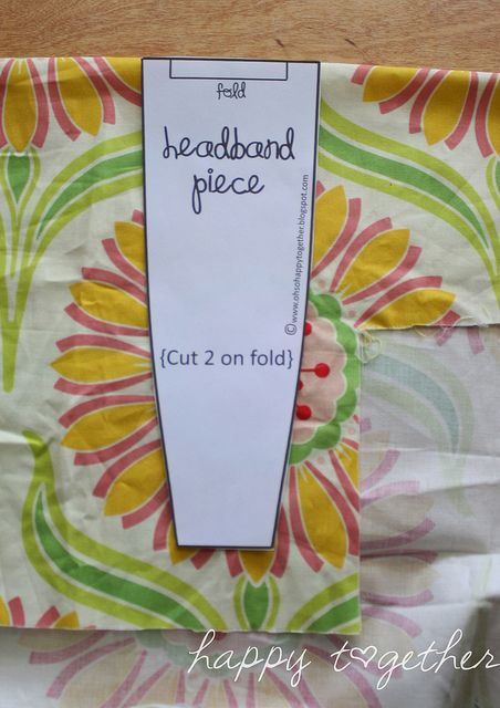 Happy Together: Double Sided Fabric Headband Pattern