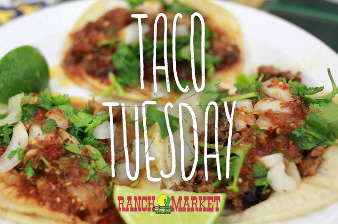 Tuesdays are the best day of the week! You get tacos! What could be better than that! Come in for our Taco Tuesday special. We've been rated as some of the best tacos in town. If you haven't tried our tacos, you should probably just come to see for yourself! See you soon!! redlandsranchmarket.com/departments/mexican-kitchen #TacoTuesday #Kitchen #Don'tmissout
