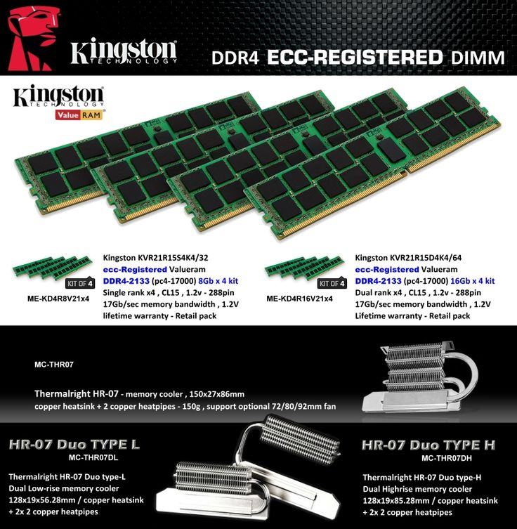 DDR4 ECC-REGISTERED DIMM