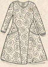 """Vilse"" dress in cotton/modal – Lost in the primeval forest – GUDRUN SJÖDÉN –…"