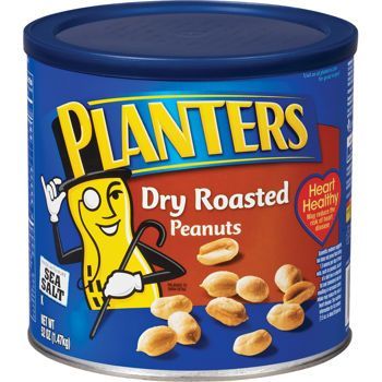 Costco Planters Peanuts, Dry Roasted 52 oz.  Lid = Recyclable, Container = Trash ( metal rim and foil paper would be a contaminant of the mixed paper recycling process)