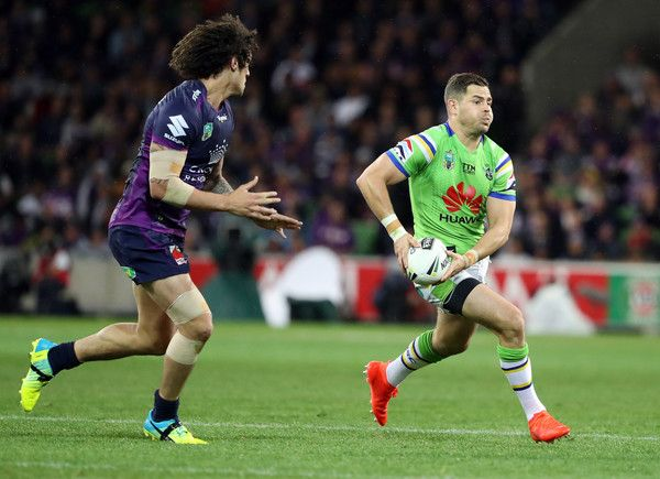 Aiden Sezer of the Raiders during the NRL Preliminary Final match between the Melbourne Storm and the Canberra Raiders at AAMI Park on September 24, 2016 in Melbourne, Australia.