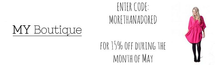 More Than Adored: SHOP SAVVY SUNDAYS: MY BOUTIQUE discount code!