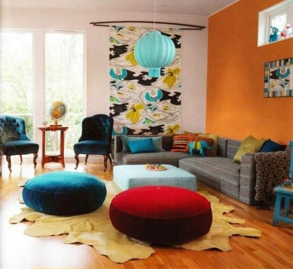 Comfortable Mix Of Classic And Modern...I Espcially Appreciate The Floor  Seating · Bohemian LivingRoom ...